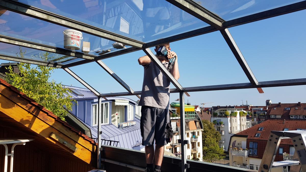 Beliebt Glasdach (Terasse/Balkon) JR96