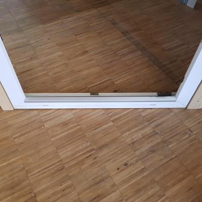 Fenster Rahmen unten hohe Schwelle (Alter Rahmen)